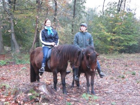 Leuk om samen met Mischa en Leonie te rijden.